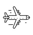 aeroplane line icon concept sign outline vector image vector image