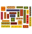 African ethnic ornaments and national patterns vector image vector image