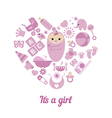 Baby girl shower background vector image vector image