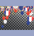 balloons with countries flags of national france vector image vector image
