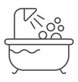 bath thin line icon shower