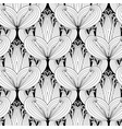 beautiful black and white paisley seamless pattern vector image