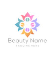 beauty and fashion logo design and icon vector image vector image