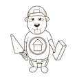 Beaver builder coloring book vector image vector image