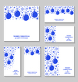 blue ball set vector image vector image