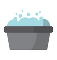 bucket washer foam soap clean vector image