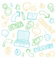Business doodles set vector image