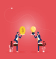 business idea and money concept-idea trading vector image vector image