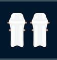 color icon british cricket defense knee vector image vector image