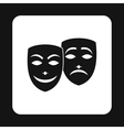 Comedy and tragedy theatrical masks icon vector image vector image
