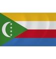 Comoros waving flag vector image vector image