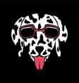 dog dalmatian eyeglasses vector image vector image