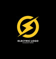 electric power logo design element vector image vector image