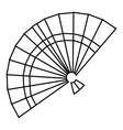 Fan icon outline style vector image vector image