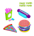 Fast food - toxic food about dangers of fast food vector image