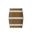 flat wooden barrel icon vector image vector image