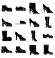 Footwear icons set simple style vector image vector image