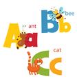 Funny alphabet vector image vector image