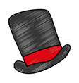 gentleman hat isolated icon vector image vector image