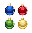 green red golden blue christmas ornaments vector image vector image