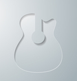 Guitar Cut in White Paper vector image vector image