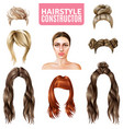 hairstyles for women constructor vector image vector image