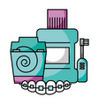 hygiene dental care vector image vector image