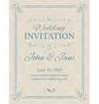 Invitation with calligraphy design elements in vector image vector image