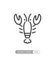lobster animal icon vector image vector image