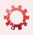 low poly cog wheel concept vector image