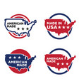 made in america label set 04 vector image vector image