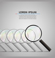 magnifying leader glass vector image vector image