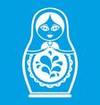 matryoshka icon white vector image vector image