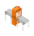 modern production line isometric 3d icon vector image
