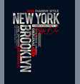 new york typography slogan vector image vector image
