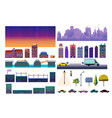 night city game level kit collection vector image vector image
