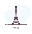 paris eiffel tower line style vector image vector image