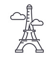 pariseiffel tower line icon sign vector image