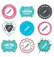Pencil sign icon Edit content button vector image vector image