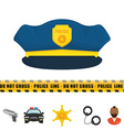 Police design vector image