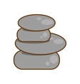 rocks stones spa isolated icon vector image vector image