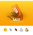 Sale icon in different style vector image