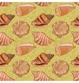 Seamless background seashells vector image vector image