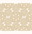 seamless lace pattern on beige background vector image vector image
