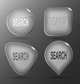 Search Glass buttons vector image vector image