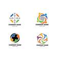 set community people logo vector image vector image