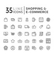 set e-commerce modern flat thin icons vector image vector image