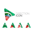 Set of abstract directional arrow icons business vector image