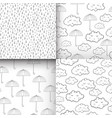 set of seamless patterns with cute sleeping vector image