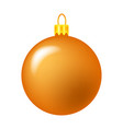 simple bauble for christmas tree isolated on vector image vector image